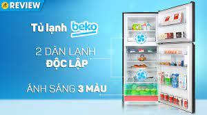 Tủ lạnh Beko 340 lít: 2 dàn lạnh, rau củ tươi lâu với ánh sáng 3 màu  (RDNT371E50VZK) Điện máy Xanh - YouTube