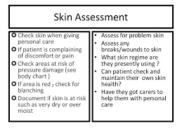 Skin Assessment Check Skin When Giving Personal Care
