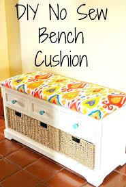 box seat cushion covers best cushion ideas on cushion covers no sew bench cushion how to