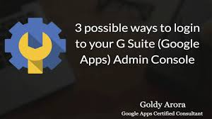 How to login to G Suite admin console - 3 smart ways - YouTube