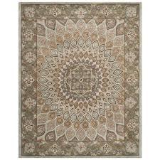 safavieh heritage blue and grey area rug