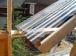 image of clear polycarbonate roof panels