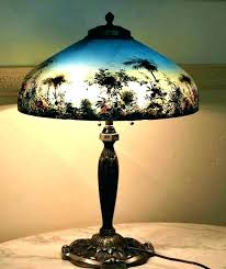 reverse painted lamp shade glass shades repair