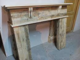 get your inspiration from this wood pallet fireplace mantel a very rustic and craft which has been diy at home