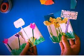Children's ME Book Making Craft, Kindergarten Arts Activity (Garden/  Spring) - YouTube