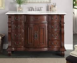 50 inch bathroom vanity single sink brown base white marble top 50 wx22 dx36 h cgd4437w50