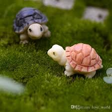 2019 fairy garden miniature turtle tortoise mini tortoise ornament resin artificial craft bonsai accessory 2cm small gift from love world