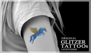 Original Glitter Tattoos From Lichtfieber Glitter Tattoo Stencils