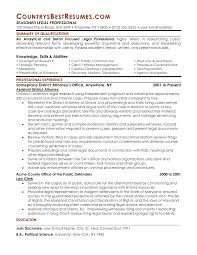 Trial Attorney Resume Example Resume Samples Employment Law