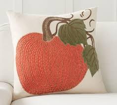 Superior Velvet Pickstitch Pumpkin Pillow Cover