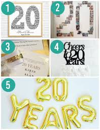 20th year traditional anniversary gifts