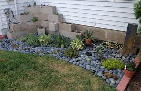 lawn garden cool backyard rock garden design for small space