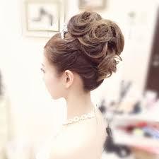 Weddinghair ウェディングヘアアレンジ 王道のアップヘア ドレス