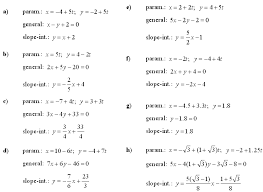 ytic geometry of the straight line and plane answers to exercise 2