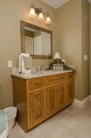 custom bathroom lighting. Craftsman-style (AKA Mission-style) Custom Bathroom Vanity. Lighting