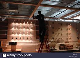 ikea lighting usa. Lighting Designer Working On A Display At New Ikea Home Furnishing Store In Haven Connecticut USA United States Usa T
