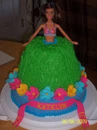 Hula Barbie Cake 4 Steps