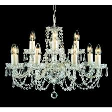babice large 12 light chandelier fitting with georgian lead crystal