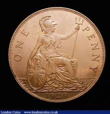 Penny 1929 Buy And Sell English Coins Auction Prices