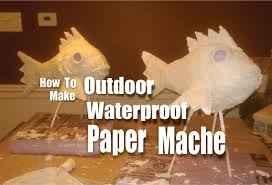 DIY Waterproof Paper Mache for outdoor weather resistant crafts - YouTube