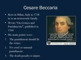 cesare beccaria essay on crimes and punishments essay of cesare beccaria essay on crimes and punishments 1764