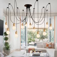 Industrial modern lighting Dining Area Industrial Modern 12 Light Large Multilight Pendant Light In Open Bulb Style Takeluckhome Industrial Modern 12 Light Large Multilight Pendant Light In Open