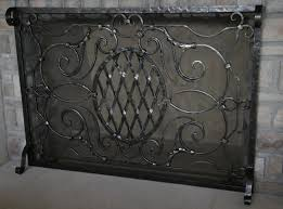 custom artistic fireplace screen