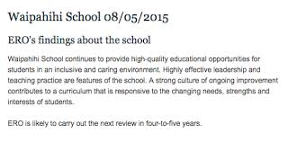 latest ero report welcome to waipahihi school click the box below to our most recent full report