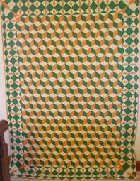 unique borders for quilts | full view of Tumbling Blocks quilt ... & unique borders for quilts | full view of Tumbling Blocks quilt with  fantastic border Adamdwight.com