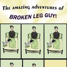 Broken Leg Guy by whocaresaboutmyname - Meme Center via Relatably.com