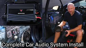 car sound system installation. full car audio system installation - speakers, subwoofer and amplifier youtube sound s