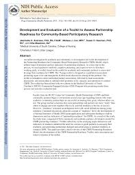 Pdf Development And Evaluation Of A Toolkit To Assess