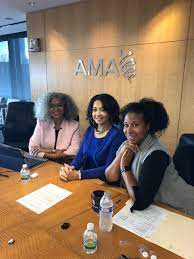 """Dr. Aletha Maybank on Twitter: """"Getting ready for #WIM webinar  @AmerMedicalAssn w/ @CCollinsPhD of @UTHealth and @TIMESUPHC & Wilda Knox  on #GenderEquity in the Workplace!… https://t.co/1GjZL8IBMa"""""""