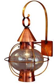 handmade outdoor lighting. cape cod onion lantern copper wall light with scroll handmade outdoor lighting