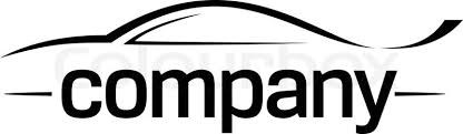car logo black and white. sport car silhouette logo vector black and white