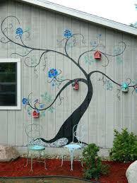 exterior wall art painting ideas