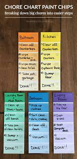 Paint Chip Chore Chart Cleaning And Organization