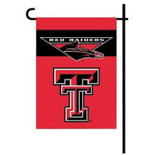 ncaa 13 in x 18 in texas tech 2 sided garden flag set