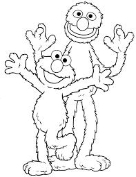 Sesame Street Coloring Pages Free Printable Baby Bear Sesame Street