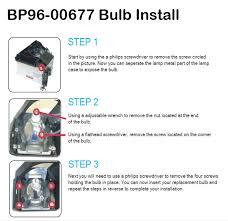 samsung tv bulb. bp96-00677 bulb install guide samsung tv
