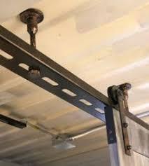 image result for diy ceiling mount byp door hardware