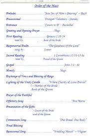 Catholic Wedding Ceremony Program Templates Catholic Wedding Ceremony Without Mass Program Templates Wonderfully
