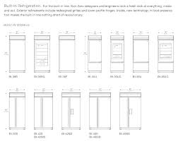 Sub Zero Refrigerator Sizes Orecchinicc Co