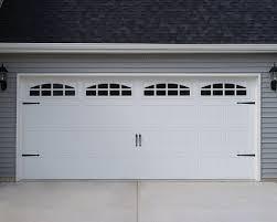 cascade garage doorCHI 5283 White Short Panel Carriage House with Cascade Windows
