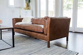 vintage mid century modern couch. Modern Leather Sofa By Edloe Finch \u2013 Mid Century Couch Top Grain Brazilian Cognac Brown Vintage