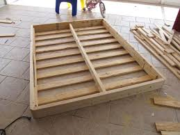 Diy bed foundation Spring Building Bed Foundation Nonbox Spring Very Comfortable Used 1x6 Instead Of 2x6 For Sides Also Used 12 1x4s Made Halfsize Foundations Pinterest Rebuilding Bed Foundation Nifty Things To Make Pinterest