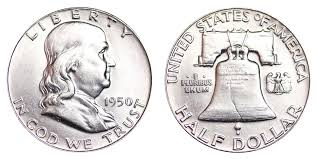 1950 Franklin Half Dollar Liberty Bell Coin Value Prices
