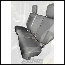 rugged ridge elite ballistic rear seat covers black for 2007 10 jeep wrangler jk unlimited