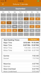 Solunar Deer Feeding Chart Best Hunting Times Calendar By Lw Brands Llc