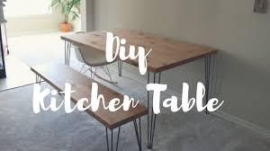 Diy Kitchen Table Bench Lindsay Brooke Youtube